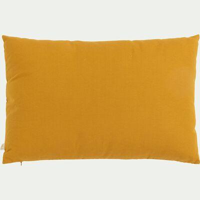 Coussin en coton - jaune argan 40x60cm-CALANQUES