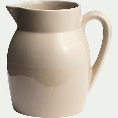 Carafe d'eau en grès 1L - beige-MARCEAU