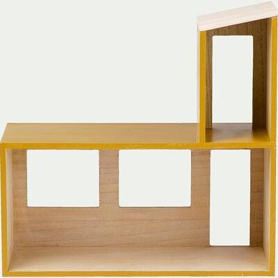 Étagère en forme de maison - jaune argan-Oustau