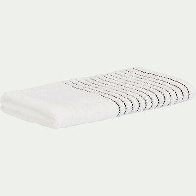 Serviette de toilette en coton - blanc ventoux 50x100cm-Rhodes