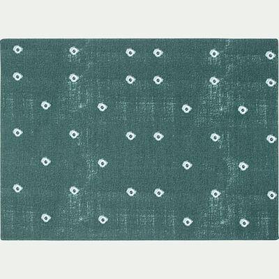 Set de table en coton à motif - bleu 35x48cm-SUDHA