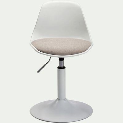 Chaise dactylo en plastique pour enfant - gris-Roly