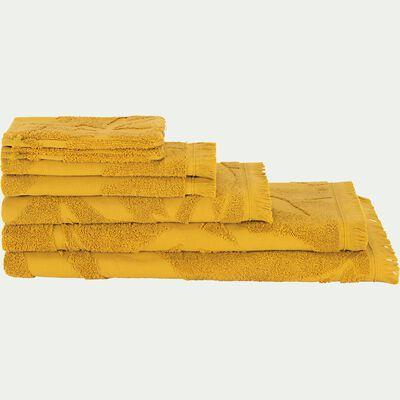 Linge de toilette en coton - jaune argan-RYAD