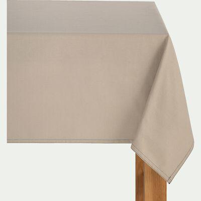 Nappe en coton beige alpilles 145x250cm-VENASQUE