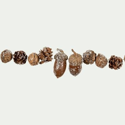 Guirlande pailletée en pines de pin - marron L120cm-MARIOS