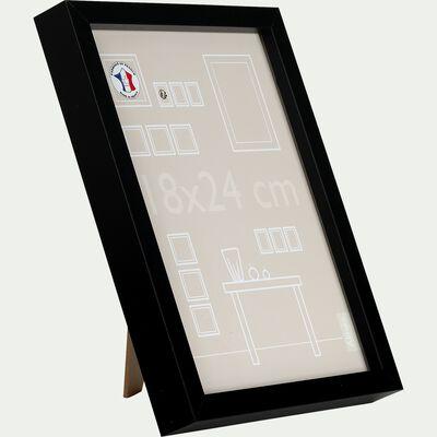 Cadre photo en bois 18x24cm - noir-PAHA