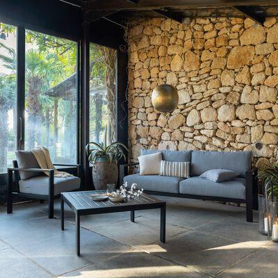Salon de jardin en aluminium et duranite (4 à 6 places)-PORT ROYAL