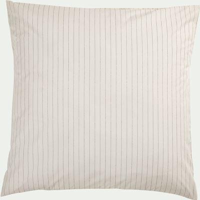 Lot de 2 taies d'oreiller en percale de coton - blanc 63x63cm-PELOUNIA