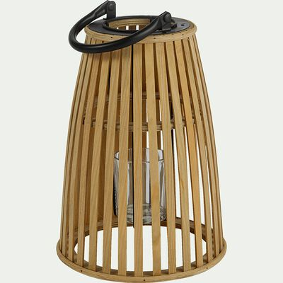 Lanterne en pin - naturel D21xH31cm-ERICA