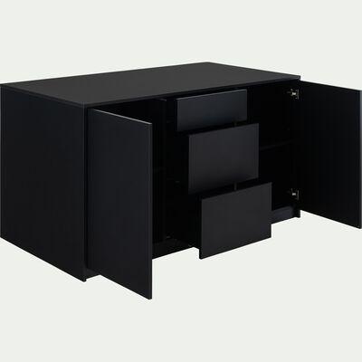 Ilot central de cuisine en bois L165cm - noir-JERZU