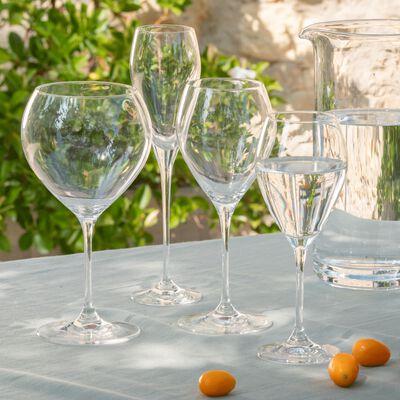 Service de verres de table en verre