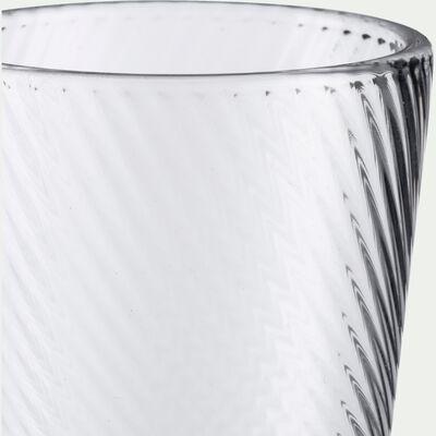 Pichet en verre strié - transparent 0,8L-DOURGO