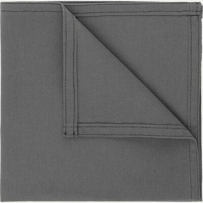 Serviette de table en coton gris borie 41x41cm-VENASQUE