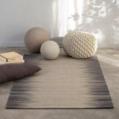 Tapis à motif en laine - gris et blanc 140x200cm-IKAT