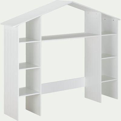 Tête de lit en bois avec rangements l191,90cm - blanc-POLLUX