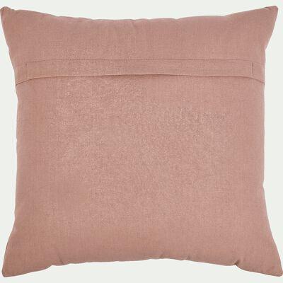 Coussin carré brodé coquillage 40x40cm - rose-Songe