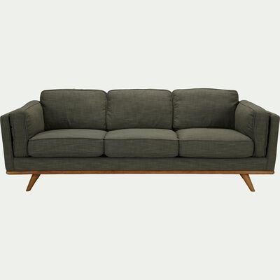 Canapé 3 places fixe en tissu - kaki cèdre-ASTORIA