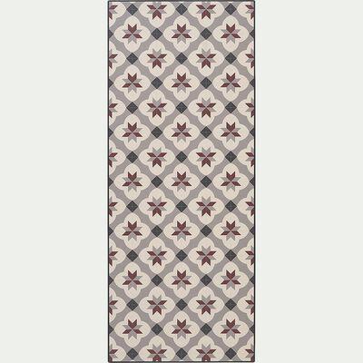 Tapis de cuisine anti-dérapant en vinyle - beige 50x120cm-SOLANGE