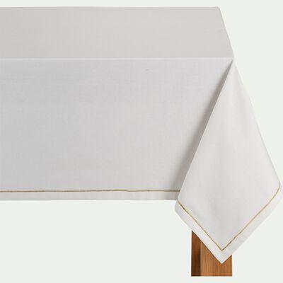 Nappe en coton - blanc 170x250cm-XENA