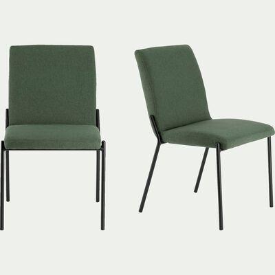 chaise en tissu vert - cèdre-JASPER