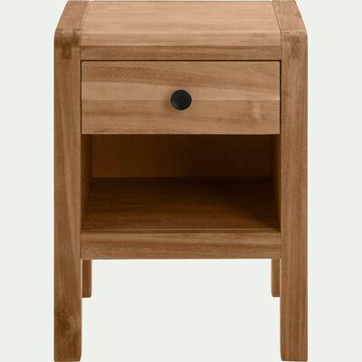 Table de chevet en acacia 1 tiroir-GAIA