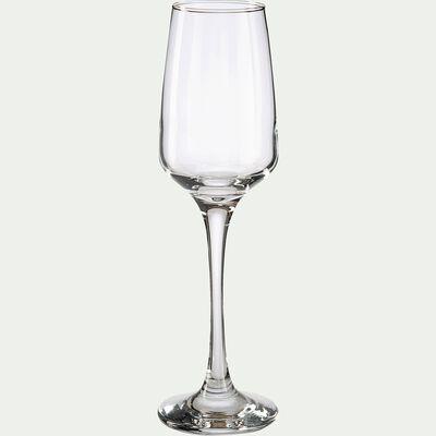 Coffret de flûtes à champagne en verre - transparent 23cl-LAL