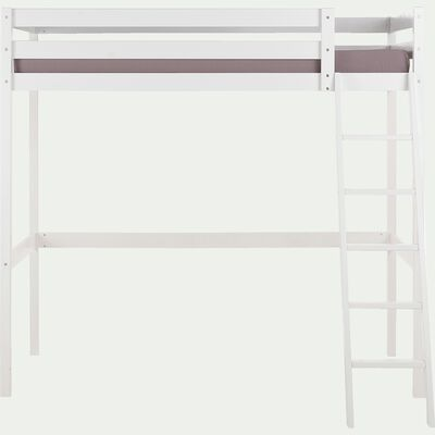 Lit mezzanine en épicéa 90x200cm - blanc-SPIGAOU