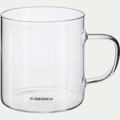 Lot de 4 tasses transparentes en verre 25cl-SICHUAN