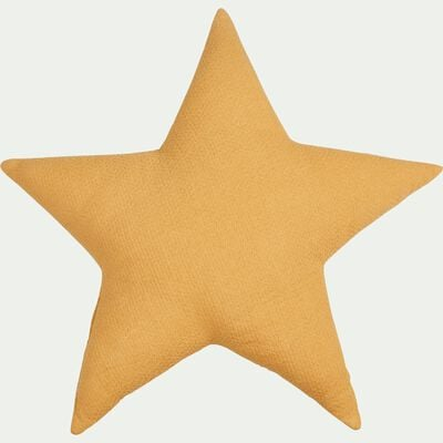 Coussin forme étoile beige nefle-COMETE