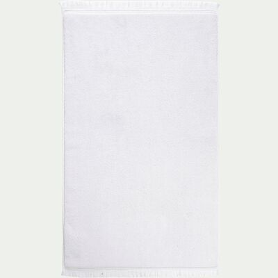 Tapis de bain en coton - blanc 50x80cm-Ryad
