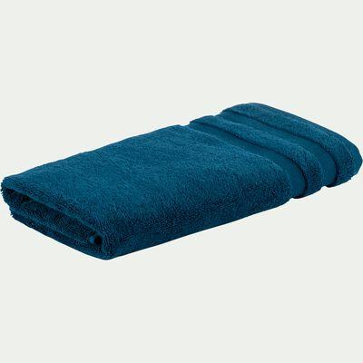 Serviette de toilette en coton - bleu figuerolles 50x100cm-Rania