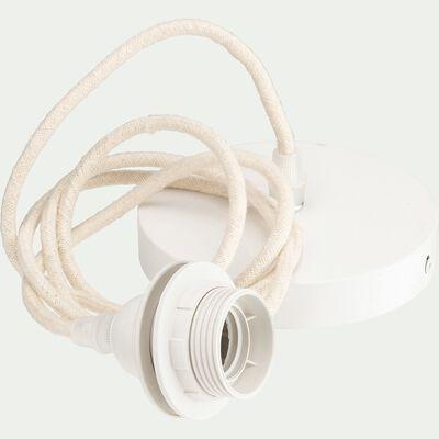 Cordon électrique en tissu E27 - beige roucas L150cm-ARGUIN