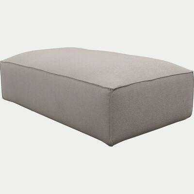 Grand pouf en tissu - L125xH40xl70cm beige alpilles-REVERE