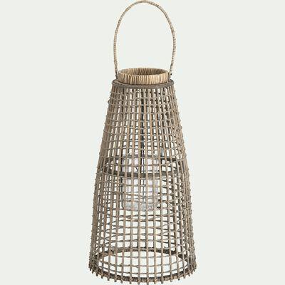 Lanterne en rotin H58xD30cm-KIM