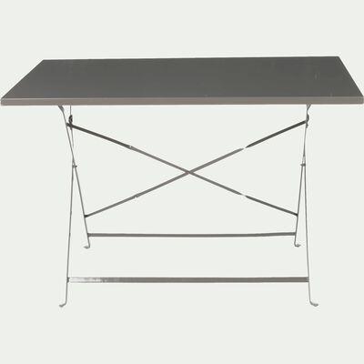 Table de jardin pliante gris taupe L110cm (2 à 4 places)-CERVIONE