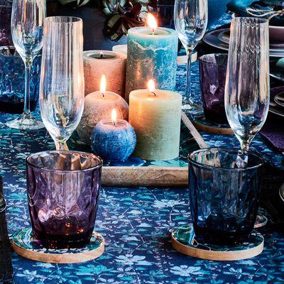 Lot de 6 flûtes à champagne en cristallin transparent 19cl-WATERFALL