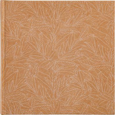 Album photo motif Laurier - beige 25x25cm-LAURIER