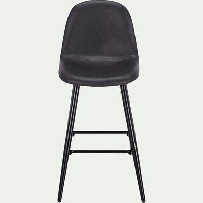 Chaise plan de travail en simili H66cm - noir-LOANA