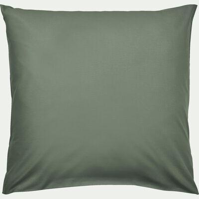 Lot de 2 taies d'oreiller en coton - vert cèdre 65x65cm-CALANQUES