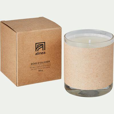 Bougie parfumée senteur bois d'Olivier 140g-ESSENTIEL