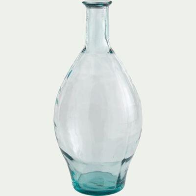 Grand vase en verre recyclé - transparent H60cm-AJJA