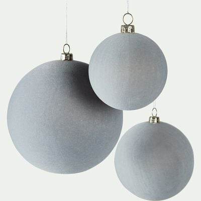 Lot de 9 boules plastique bleu (plusieurs tailles)-LORETTES