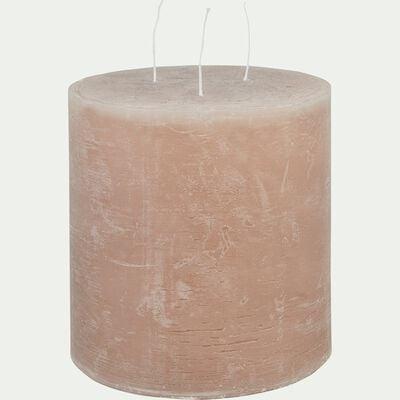 Bougie lanterne - rose argile 15x15cm-BEJAIA