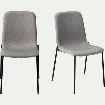 Chaise en tissu - gris clair-LINA