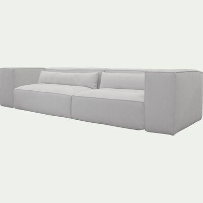Canapé droit 3 places en tissu - beige roucas-REVERE