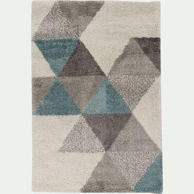 Tapis à motifs géométriques - bleu 160x230cm-OSLO