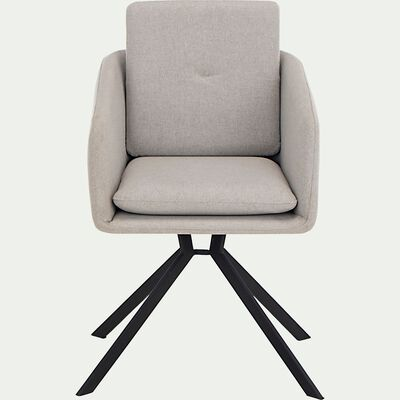 Chaise pivotante avec accoudoirs en tissu - gris borie-CAMARGUE