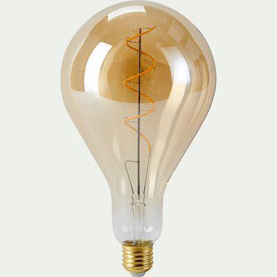 Ampoule déco goutte - ambre-SPIRALE