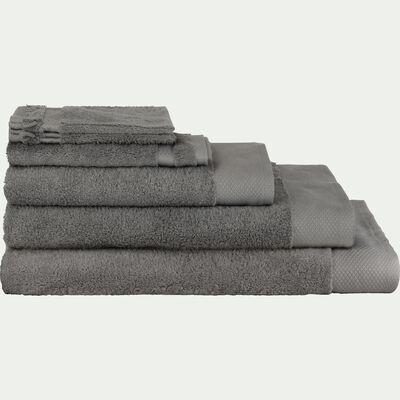 Linge de toilette en coton peigné-  gris restanque-AZUR