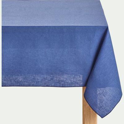 Nappe en lin et coton bleu figuerolles 170x250cm-NOLA